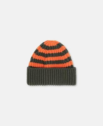 Stella Mccartney Kids Stella McCartney striped knit hat