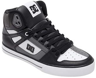 DC High-Top WC (White/Grey/Black) Men's Skate Shoes