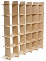 Sprout Mid-century 25 Cube Raw Baltic Birch Storage Bookcase