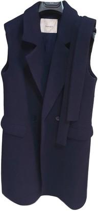 Twin-Set Twin Set Blue Cashmere Coat for Women