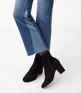 LOFT Modern Godet Vintage Straight Jeans in Mid Indigo