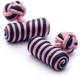 Charles Tyrwhitt Pink and navy barrel knot cuff links