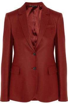 Gucci Blazer en flanelle de laine et cachemire mélangés