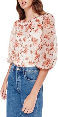 CAMI NYC Francie Floral Print Silk Blouse