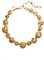 Oscar de la Renta Women's Textured Disc Necklace