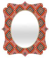 Deny Designs Oval Bohemian Farmhouse Geo Quatrefoil Decorative Wall Mirror
