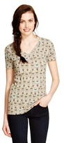 Mossimo Women's Printed Vee T- Shirt Juniors')