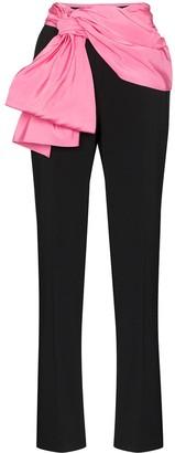 Carolina Herrera Contrast Sash Trousers