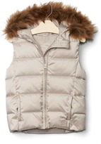 Gap ColdControl Max fur-lined puffer vest