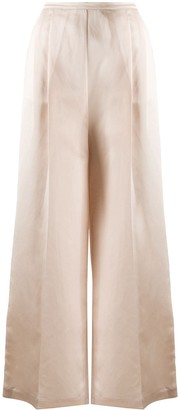 Semi-Couture High-Rise Pleated Wide-Leg Trousers