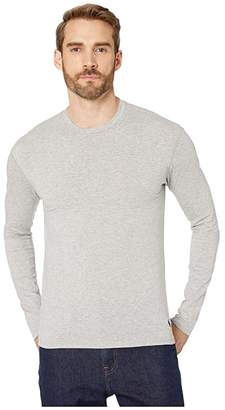 Polo Ralph Lauren Knit Long Sleeve Crew (Andover Heather/Polo Black Pony Print) Men's Clothing