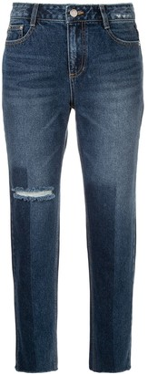 Sjyp Washed Straight Leg Jeans