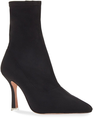 Black Suede Studio Akiyo Stretch Ankle Booties
