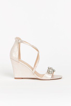 Wallis Pink Embellished Wedge Sandals