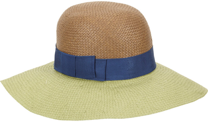 Lanvin Colorblock Wide-brim Hat