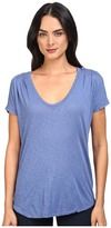 Splendid Slub Tees Pleat Shoulder Top