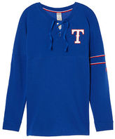PINK Texas Rangers Bling Lace-up Varsity Crew