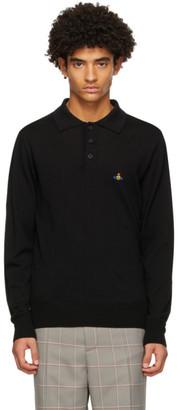 Vivienne Westwood Black Long Sleeve Polo