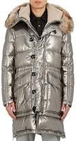 Moncler Men's Fur-Trimmed Quilted Hooded Parka