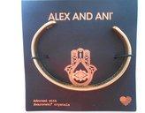 Alex and Ani Hand of Fatima Cuff Rafaelian Gold Finish Bracelet With Box and Card