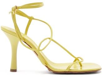 Bottega Veneta Line Wraparound Leather Sandals - Light Yellow