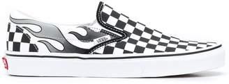 Vans Slip-on Checkerboard Flame sneakers