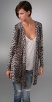 Cheetah Me Draped Cardigan