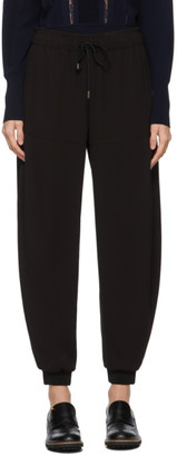 Chloé Black Crepe Jogger Lounge Pants