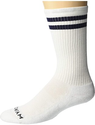 Wigwam Postal Lite Crew (White) Crew Cut Socks Shoes