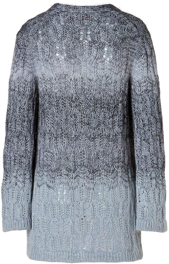 Missoni Cashmere-Mohair Blend Cable Knit Cardigan