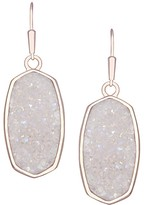 Kendra Scott Danay Rose Gold Earrings in Iridescent Crystallized Drusy