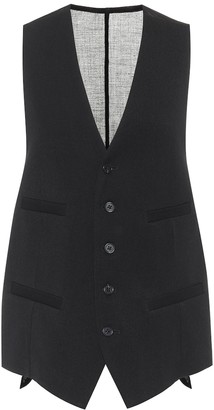 Ann Demeulemeester Wool twill and cotton waistcoat