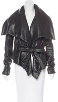 Gareth Pugh Coated Wrap Jacket