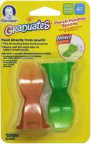 Gerber NUK 2 Count Graduates Baby Food Pouch Feeding Spoon, 4 Months Plus