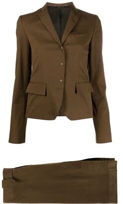 Gucci Pre Owned 1990s Two-Piece Skirt Suit
