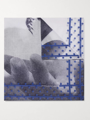 Massimo Alba Printed Cotton-Voile Pocket Square