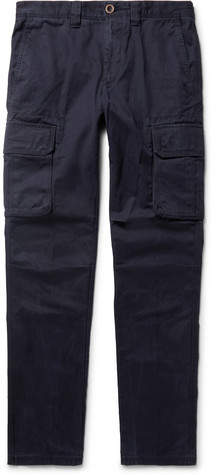 Incotex Slim-Fit Cotton-Twill Cargo Trousers