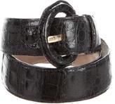 Nancy Gonzalez Black Crocodile Belt