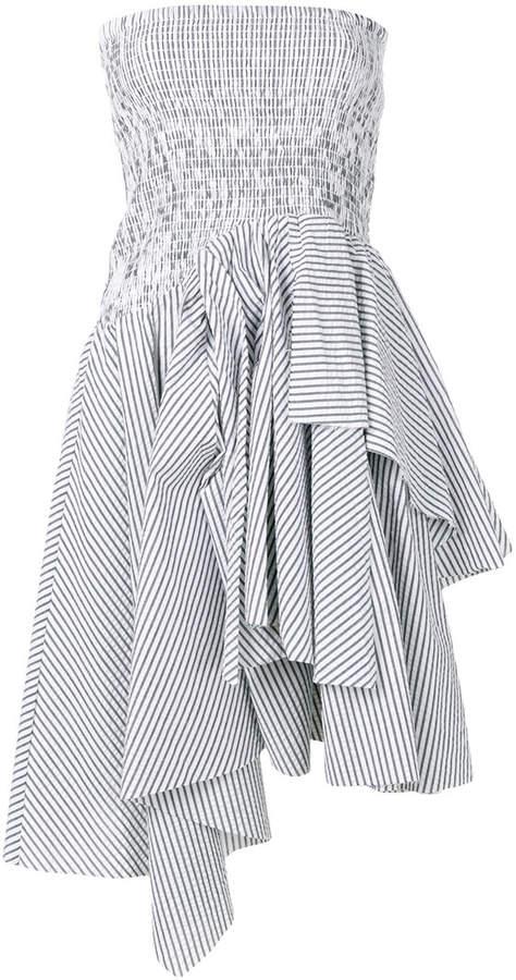 KENDALL + KYLIE Kendall+Kylie ruchéd asymmetric T-shirt dress