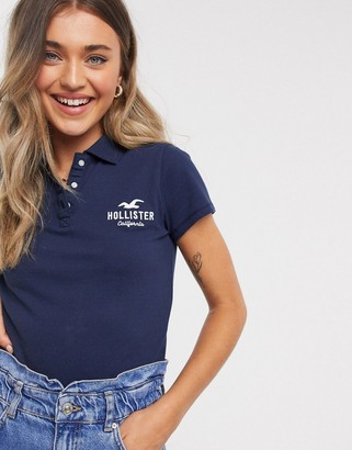 Hollister logo polo shirt