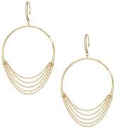Celara 14K Yellow Gold & Diamond Frontal Wire Hoop Earrings