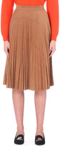 Mo&Co. Pleated faux-suede skirt