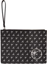 Giuseppe Zanotti Black Logo Print Document Holder