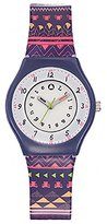 Lulu Castagnette Girl's Quartz Watch with Silver Dial Analogue Display and Plastic Multicolour - 38800