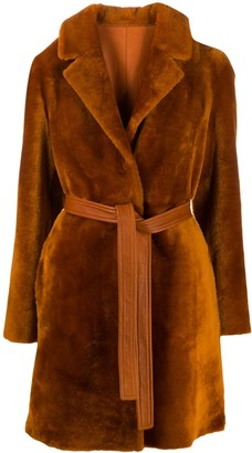 Blancha Belted Faux Fur Coat