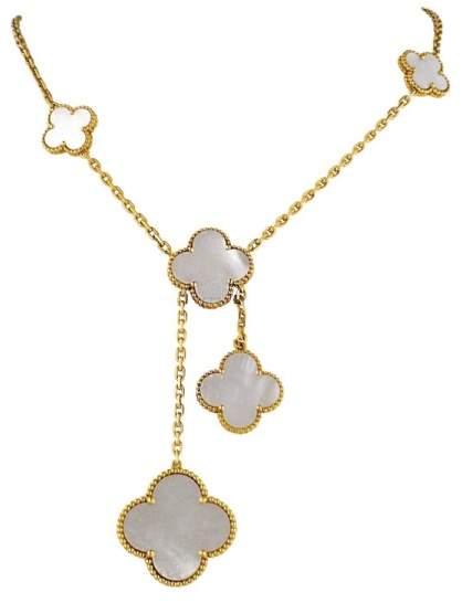 Van Cleef & Arpels Alhambra 18K Gold Mother of Pearl Necklace