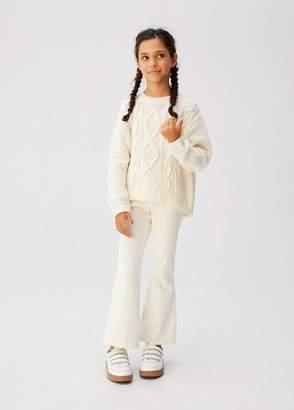 MANGO Flared corduroy trousers off white - 5 - Kids