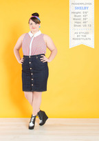 Fashion Sense of Direction Top in Blue and Red - Plus Size