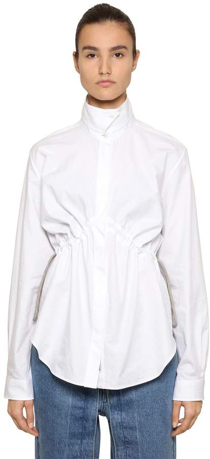 Aalto Poplin Shirt W/ Drawstring At Waist