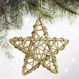 "Pier 1 Imports Gold Rattan 4"" Star Ornament"